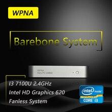Ргнс офисный компьютер nettop barebone ux830 intel core i3 7100u hd graphics ирис 620 4 К HDMI WIFI Windows 10 Мини-Пк Все В Одном
