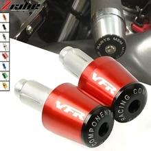 For Honda VFR400 VFR750 VFR800/F VFR 800 VFR1200/F Motorcycle CNC Handlebar Grips Bar Ends Cap Slider HONDA VFR800