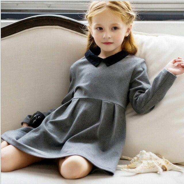 8d20fb74c0fc5 baby girls children dress clothing fashion peter pan collar 2015 autumn  winter girl's wear cotton casual dresses kids clothes