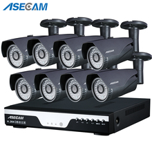 купить 1080P CCTV System POE NVR 1080P Video Output 2.0MP CCTV POE IP Camera Home Security Surveillance Kit Xmeye App Motion detection по цене 13173.22 рублей