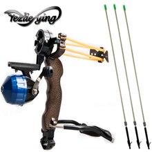 цены High Powerful Fishing Slingshot 3PCS Arrow Target Professional Hunting Shooting Archery Catapult Bow Arrow Outdoor 6mm Arrow