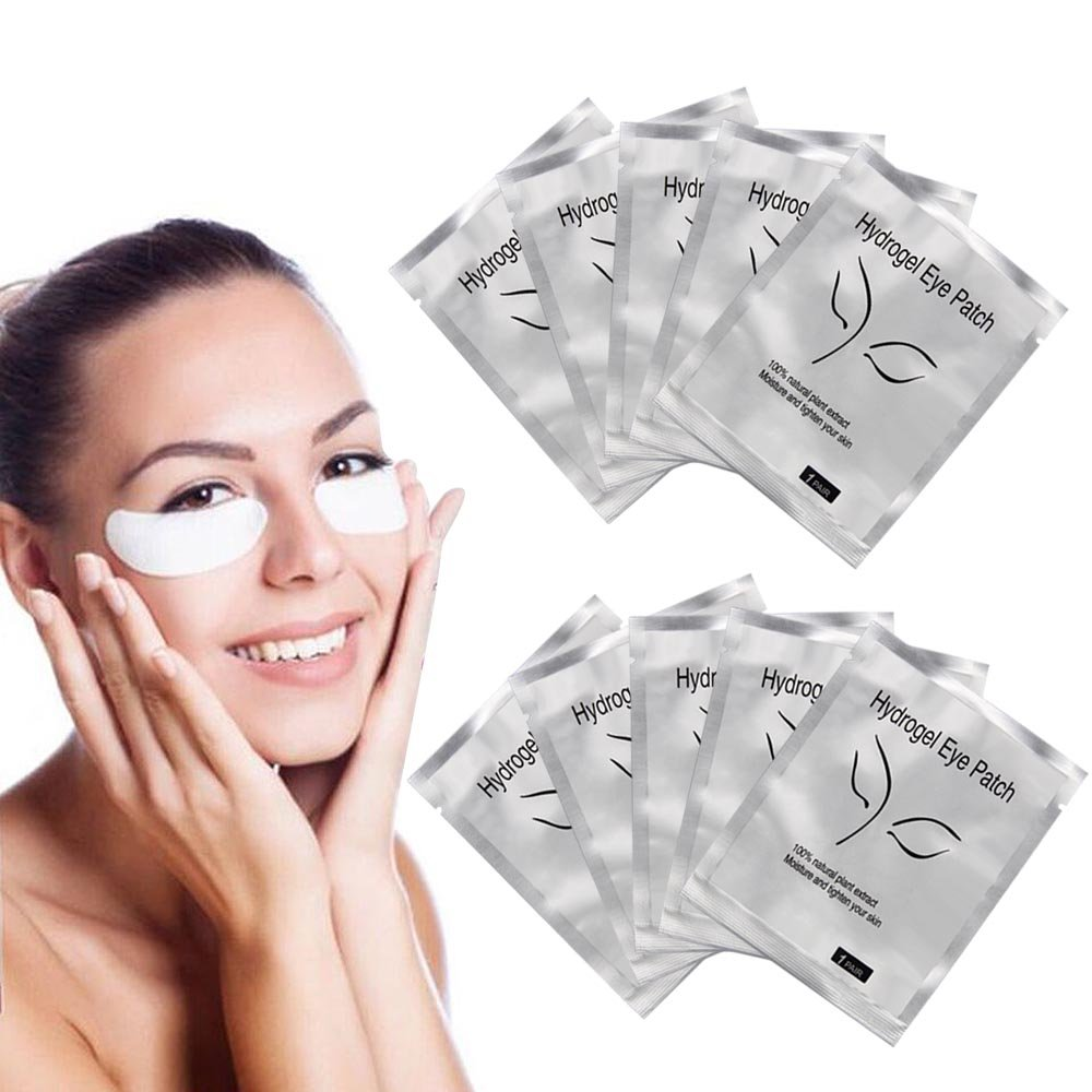 2019 New Sliver 100 Pairs Eyelash Extension Under Gel Eye Pads Mask Paper Patches Tips Sticker Make Up Tools Pack
