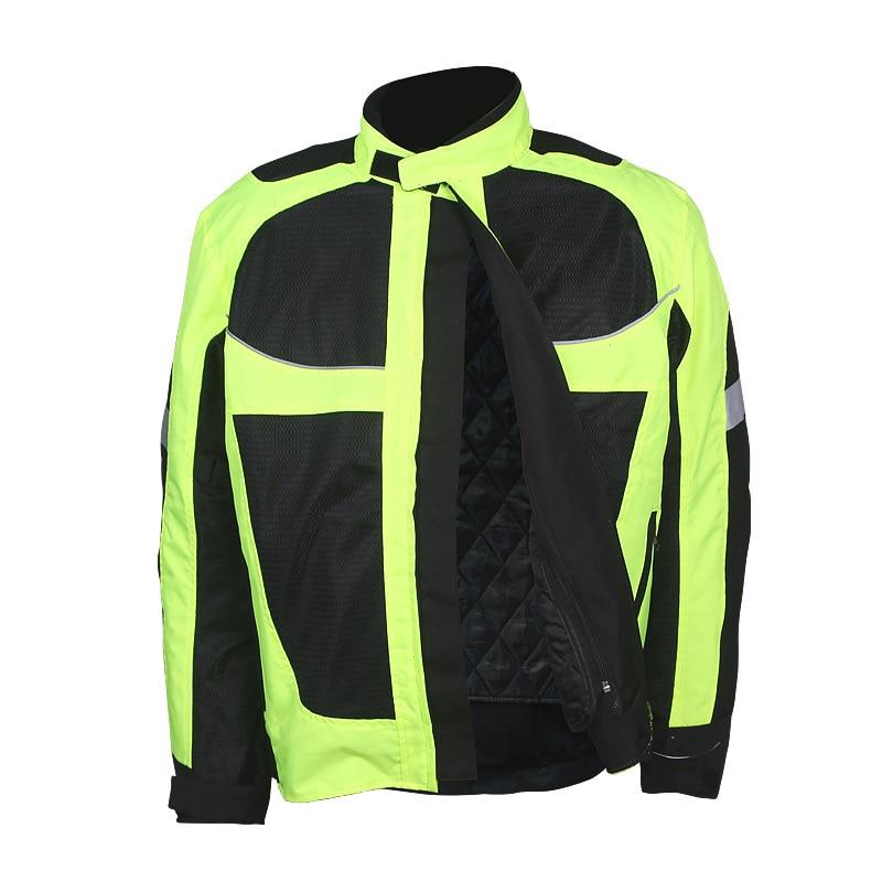 Winter Summer Motorcycle Men's Jacket Moto Racing Reflective Jacket Moto Protective Clothing Four Season