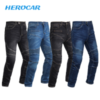 Motorcycle Pants Men Retro Summer Breathable Motorcycle Jeans Moto Protection Motorbike Pantalon Motocross Pants Moto Trousers
