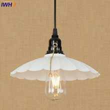 IWHD Vintage Loft LED Pendant Lamp Industrial RH Pendant Light Droplight Colorful Hanglamp Fixtures For Home Lighting Luminaire