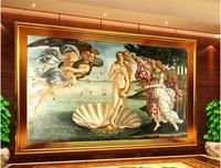 3d Room Wallpaper Custom Mural Non Woven Wall Sticker Famous Birth Of Venus Figure Painting Photo