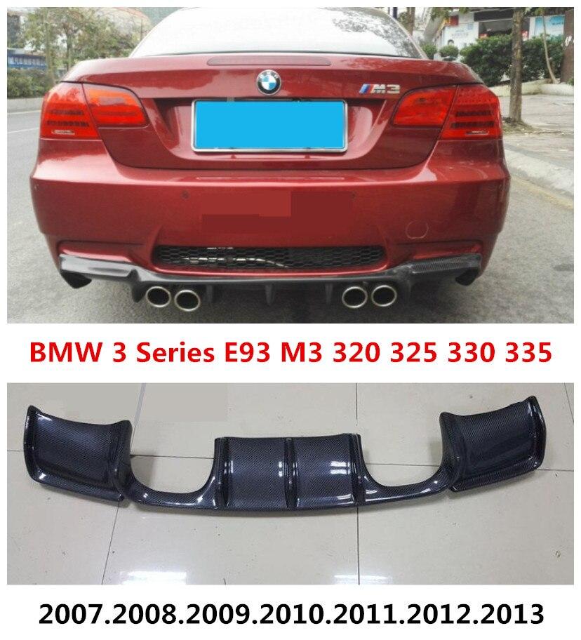 Carbon Fiber Rear Lip Spoiler For BMW 3 Series E93 M3 320 325 330 335 2007-2013 High Quality Bumper Diffuser Car Modification