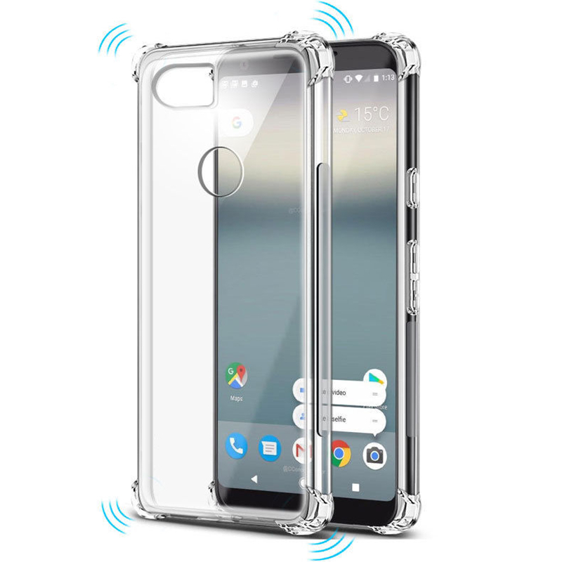 Clear Soft Bumper Shockproof Cover Case For Google Pixel 2 3 XL Pixel2 Pixel3 Shell Air Cushion Silicone TPU Coque Housing
