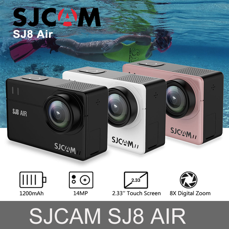 In Stock! SJCAM SJ8 Air 14MP HD Touch Screen Action Camera WiFi Remote Control Waterproof Sport DV Mini 1200mAh H2 Camera цена 2017
