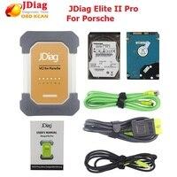 Оригинальный jdiag Элитные II pro Универсальный Автомобильный J2534 диагностический ECU программист для porsche с программным обеспечением Профессион