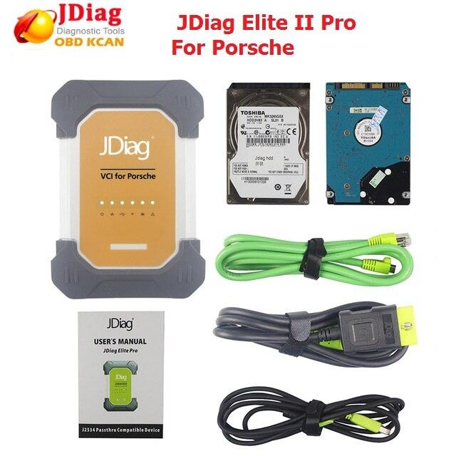 Original J2534 JDiag Elite II pro Carro Universal Programador ECU de Diagnóstico para a porsche com software ferramenta profissional de diagnóstico
