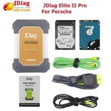 Оригинальный jdiag Элитные II pro Универсальный Автомобильный J2534 диагностический ECU программист для porsche с программным обеспечением Профессиональный диагностический инструмент