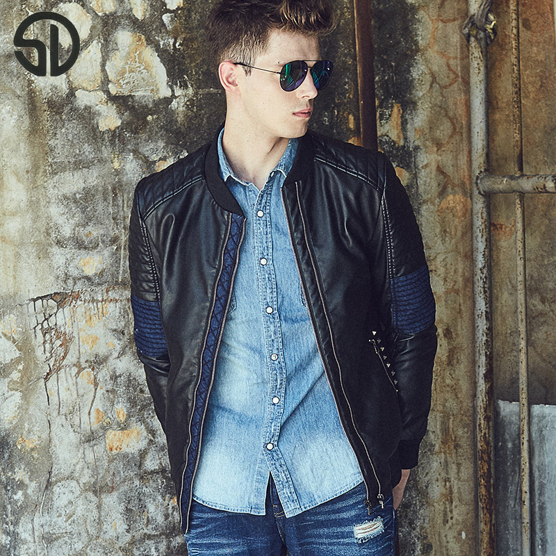 Free Shipping Winter Thick Leather Garment Casual flocking Leather Jacket Mens Clothing Cashmere Lined Leather Jacket Men