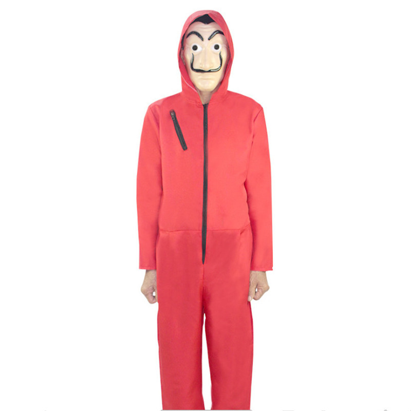 The House Of Paper La Casa De Papel Salvador Mens Womens Dali Money Heist Costume Halloween Party Cosplay