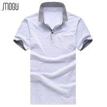 MOGU Fashion Printed Short Sleeve Polo Shirt Men 2017 Summer New Floral Casual Shirt Men Brand Polo Plus Size Men's Polo Shirt