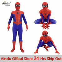 New Spiderman Into the Spider Verse Peter Benjamin Park Cosplay Costume for Men Boys Spiderman Superhero Zentai Bodysuit Suit