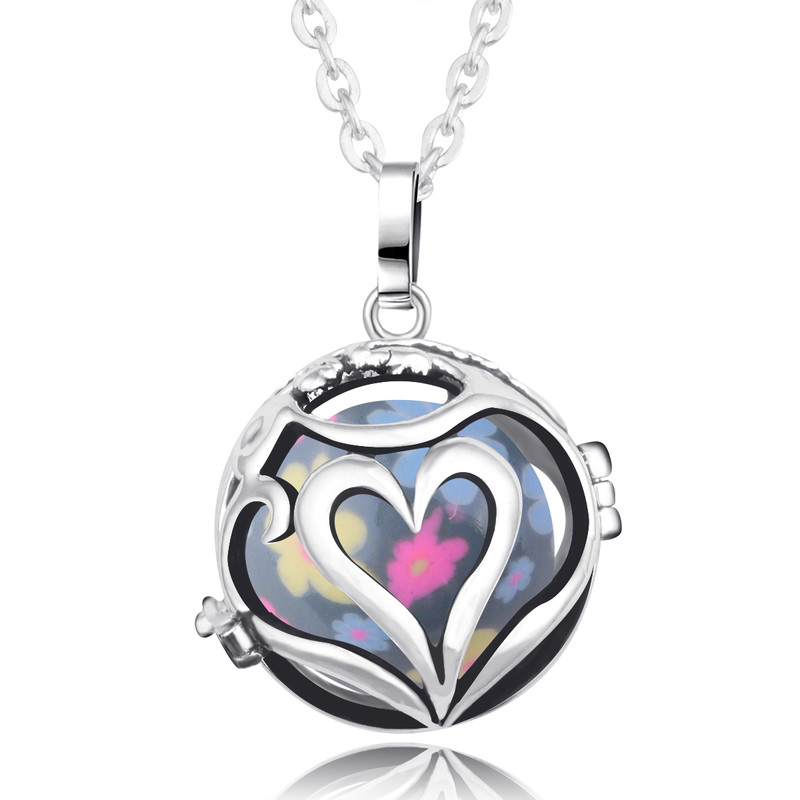 Eudora Harmony Bola Ball Pendant Necklace Love Each Other Angel Caller fit 20mm Baby Chime Ball Pendants Pregnant Jewelry Gift