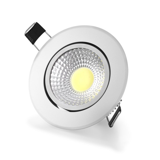 Dimmable LED COB Downlight AC110V 220V 3W 5W 7W 12W Recessed LED Spot Light lumination Indoor Decoration Ceiling Lamp