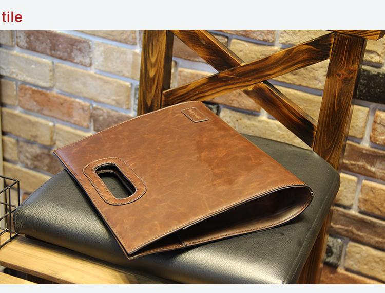 Business Casual Men Leather Designer Handbag High Quality Male Wallet Famous Brand Men's Large Capacity Clutch Bag Brown black 81