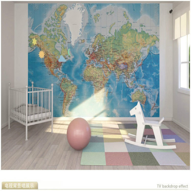 3D Wallpaper For Wall 3d Mural Wallpaper The World Map Of Mural Porch  Corridor For The
