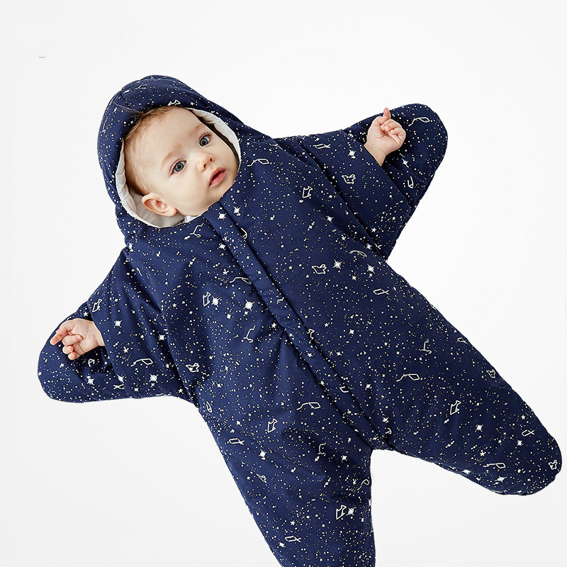 Cotton Seasons Cartoon Starfish Baby Sleeping Bag Hold Newborn Baby Cotton Leg Sleeping Bag