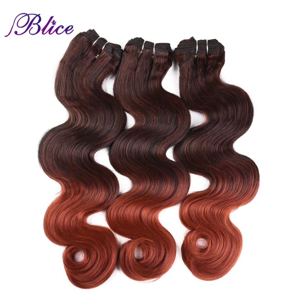 Blice Syntetisk Hår Vävning 18-26 tum Mix # P1B / 350 Kroppsvåg - Syntetiskt hår