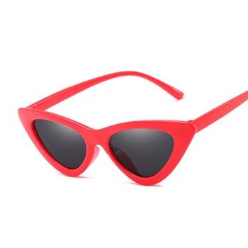 Sexy Cat Eye Sunglasses Women Brand Designer Mirror Black Triangle Sun Glasses Female Lens Shades for Ladies Eyewear UV400 8