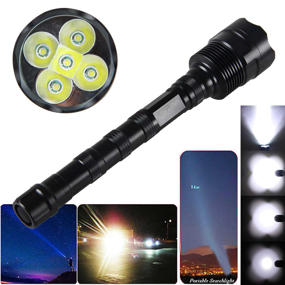 10000LM Rechargeable Spotlight 3x T6 LED Searchlight Tactical Flashlight Torch