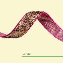 Stretch Metallic Velvet Ribbon Teniente Oro Color de La Chispa Cinta 5/8 «Elástica Glitter Velvet Ribbon Precio Negociado