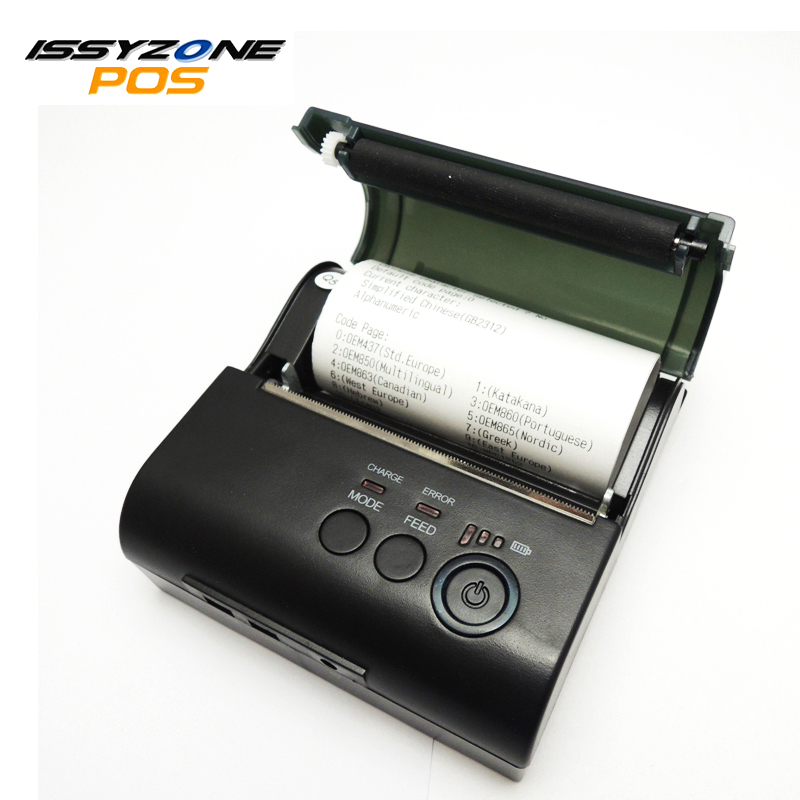 ISSYZONEPOS Minni Portable Thermal Printer 58mm Receipt Printer with Built-in Battery Bill Printer for Android/iOS