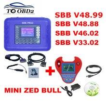 SBB Pro2 V48.88 V48.99 V33.02 V46.02+ Мини Zedbull Auto программатор ключей SBB 48,88 48,99 версия Zed Булл OBD2 Ключ чайник