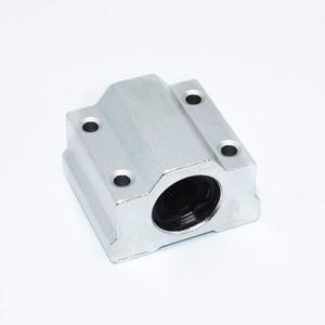Image 1 - 10pcs 3D printer SC8UU SCS8UU 8mm Linear Motion Ball Bearing block with LM8UU bush Slide Linear Shaft for CNC