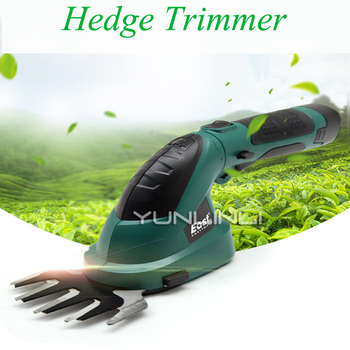 Small Multi-function Lithium Battery Rechargeable Weeding Shear Electric Household Hedge Trimmer Pruning Mower ET1511c