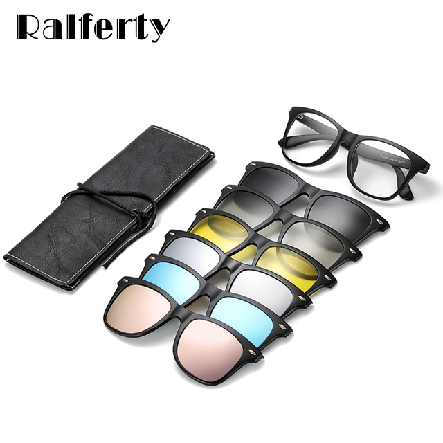 b6ae706686 Ralferty Magnetic Sunglasses Women Clip On Sunglass Men Polarized UV400  High Quality TR90 3D Night Vision