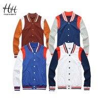 HanHent New Baseball Jackets Sweatshirts Men Spring Autumn Patchwork 2017 Fashion High Street Hoodies Hip Hop Men's Clothing