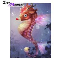 Ever Moment Diamond Painting 5D DIY Seahorse Mosaic Full Square Drill Picture Of Rhinestone Diamond Embroidery Handmade 3F731