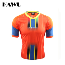 KAWU Spain Brazil custom made Survetement Football 2017 Sport Running T Shirt Quick-drying Short Sleeve Sportwear C17003(China)