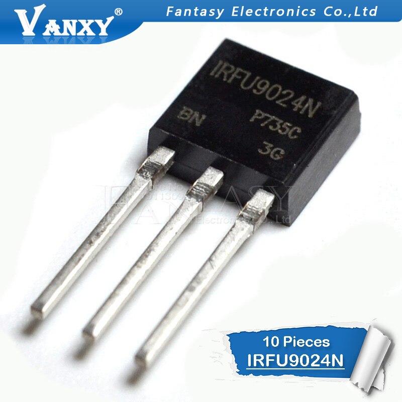 10PCS IRFU9024 TO-251 IRFU9024N IRFU9024NPBF TO251 New MOS FET Transistor