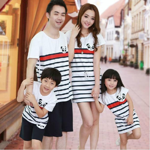 1bb31e7da441 New 2015 Summer Family clothes,Mother daughter Dress, Father Son sets ,Kids  Baby Sports Fashion Family Parent-child outfit