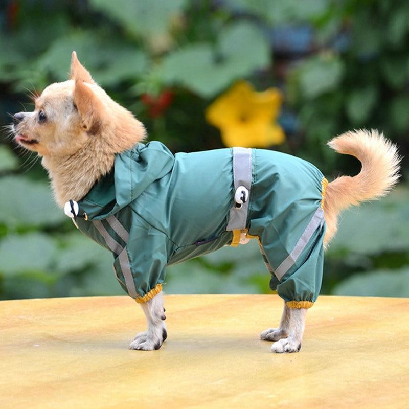 Puppy Pet Dog Cool Raincoat Glisten Bar Hoody Waterproof Rain Lovely Jackets Coat Apparel