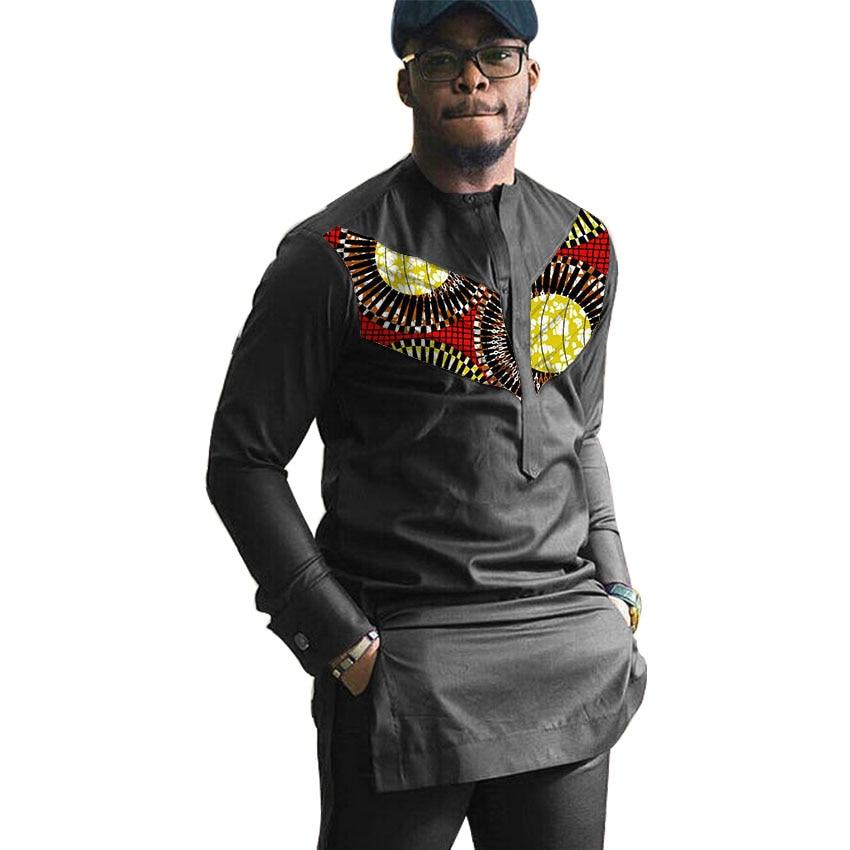 Africa print mens long sleeve shirt fashion Africa style African shirt man dashiki Ankara clothes customized