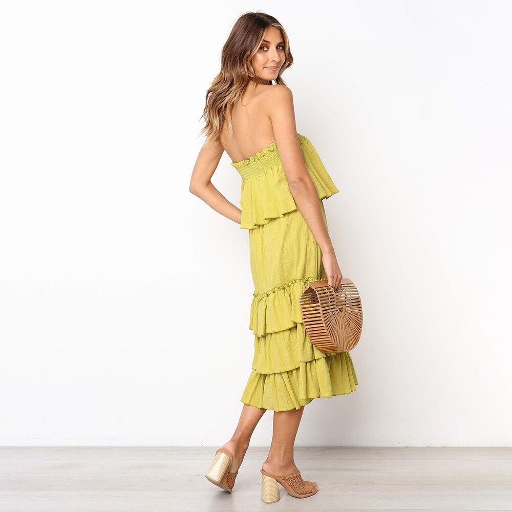 Girl Sleeveless 2 Off Ruffles Shoulder The 1 Dress 3 Fashion Dresses Minboutique a5qf6