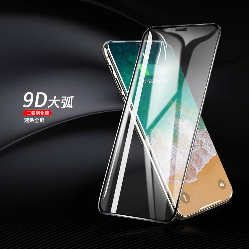 Protetor de tela do telefone móvel Iphone xs max Aplicação Da Membrana Temperado Maçã 7/8 Super Postado Temperado Membrana Tela Cheia