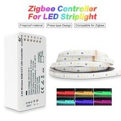 GLEDOPTO zigbeeZLL collegamento smart HA CONDOTTO LA Striscia Set Kit rgbcct ZIGBEE controller per dc24vRGB + CCT striscia impermeabile luce del lavoro con alexa
