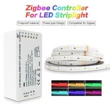 GLEDOPTO zigbeeZLL link inteligentny zestaw taśm LED zestaw rgbcct ZIGBEE kontroler do dc24vRGB + CCT taśma wodoodporna lekka praca z alexa