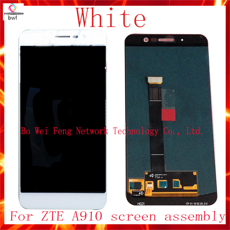 High Quality Full LCD DIsplay + Touch Screen Digitizer Assembly Replacement For ZTE Blade A910 BA910 TD-LTE+Tool Free Shipping high quality full lcd display touch