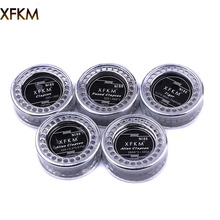 XFKM 5m/roll NI80 tiger alien fused Clapton  heating wire for RDA RBA RTA DIY Rebuildable Atomizer Coil Vaporizer coils
