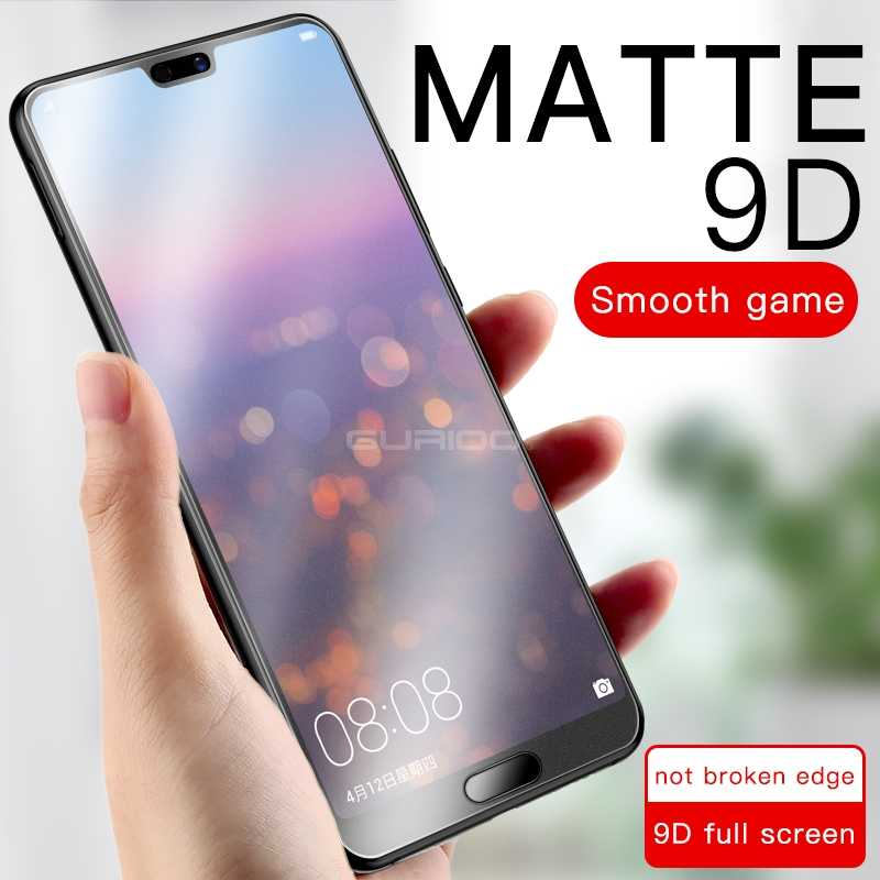 No Fingerprint Frosted Tempered Glass for Huawei Mate 20 10 Y7 Pro Y9 2019 Matte Screen Protector Film Honor 8X 8A 10 Lite Play