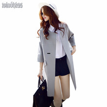 3Color S-5XL Autumn New Outfit New Lady Windbreaker 200 pounds of loose leisure Solid Color coat Jacket