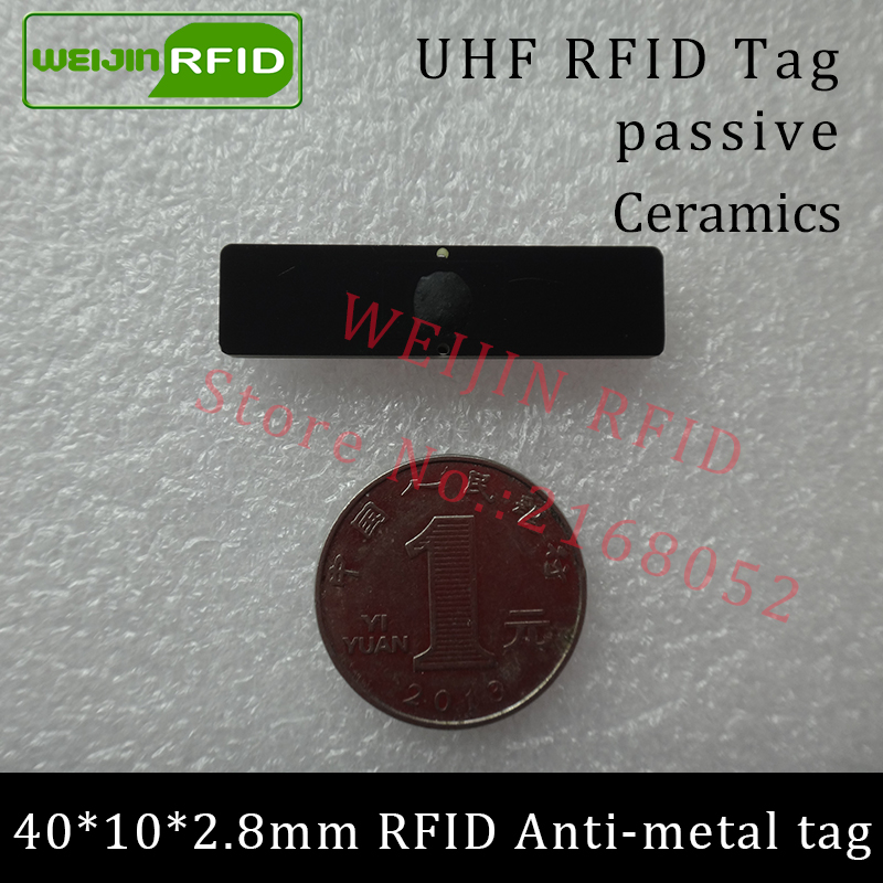 UHF RFID anti metal tag 915m 868m Alien Higgs3 EPCC1G2 6C 40*10*2.8mm IT assets small rectangle PCB smart card passive RFID tags uhf rfid metal tag 915mhz 868mhz alien higgs3 epcc1g2 6c 70 22 3 7mm fixed assets management pcb smart card passive rfid tags